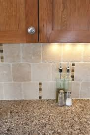 kitchen travertine backsplash kitchen tumbled travertine w copper accents backsplash liking the