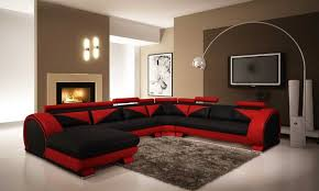 Living Room Rugs Modern Black And Red Living Room Blue Rug Colorful Cushions White Wooden