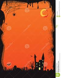 free halloween flyer background vector halloween background orange stock illustration image