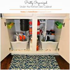 Organizing Under Kitchen Sink by Home For4 Sweet Home Kitchen Organizing Under The Kitchen Sink