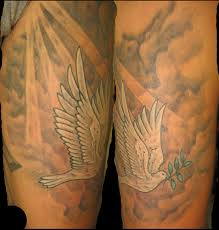 dove and cross tattoo dove tattoos with clouds and cross