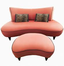 Loveseat With Ottoman Boomerang Shaped Loveseat And Ottoman Ebth