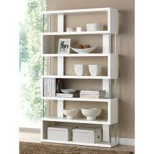 bookcase white wood baxton studio barnes white wood 6 tier open shelf 28862 4834 hd