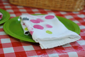 happy dots reusable napkins kids craft idea making lemonade