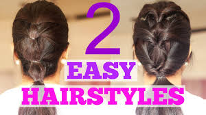 2 quick hairstyles for work college or the gym youtube