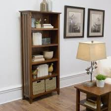 home decorators collection artisan medium oak open bookcase