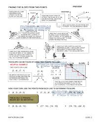 slope of a line worksheets worksheets by math crush graphing coordinate plane