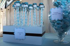 blue candy for baby shower home design inspirations