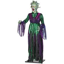5 ft life size animated medusa halloween decoration animatronic