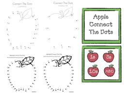 connect the dots worksheets alphabet connect the dots apple