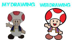 disegno toad super mario drawings 1