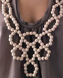 necklace beads diy images Wooden circle bib necklace martha stewart jpg