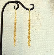 gold dangle earrings intricate 18k gold earrings dangle earrings by ruthajewelry