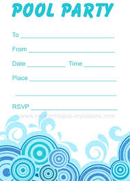 printable party invitations pool party invitations free printable party invites from