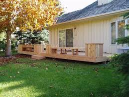 Deck Planters And Benches - built in deck planters decks cedar deck with built in benches