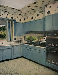 Popular Colors For Kitchens by 1950s Decorating Style