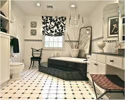Small Black And White Tile Bathroom White Tile Bathroom Floor Designs Black And Inspirations Of Design