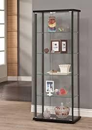 Venetian Glass Display Cabinet Amazon Com Ikea Home Indoor Glass Door Cabinet Black Brown