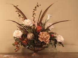 silk floral arrangements pheasant feathers roses silk floral arrangement ar214