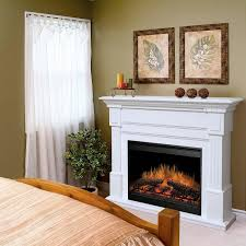 White Electric Fireplace Decorating Chic Dimplex Electric Fireplaces With White Mantel Kit