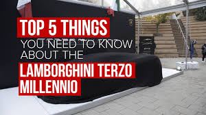 lamborghini concept five things you need to know about lamborghini and mit u0027s terzo