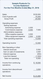 Accrual Basis Income Statement Template by
