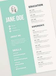 Free Graphic Design Resume Templates by Free Graphic Design Resume Templates Best 25 Cv Template Ideas On