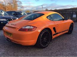porsche cayman orange used porsche cayman coupe 3 4 987 sport 2dr in warrington