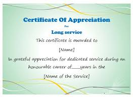 50 professional free certificate of appreciation templates for