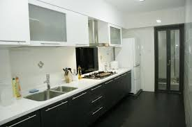 kitchen design hdb one sided cabinet would make my small kitchen look wider home