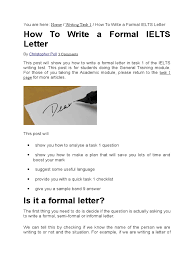 how to write a formal ielts letter international english