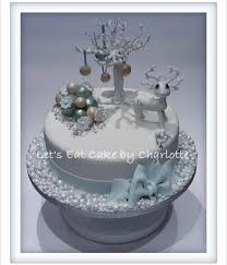 White Christmas Cake Ideas by Top Gelatin Bubble Cakes Cakecentral Com