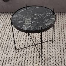 black marble coffee table round black marble cupid side table marble furniture beut co uk