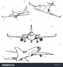 aircraft pencil sketch by hand stock vector 520459651 shutterstock