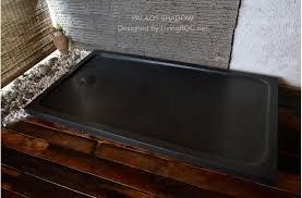 Shower Tray X 900 Black Granite Stone Shower Tray Rubix Shadow