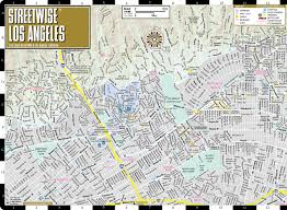 Map Of Downtown Los Angeles Streetwise Los Angeles Map Laminated City Center Street Map Of