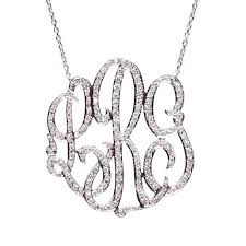 cheap monogram necklace moon and lola omiya diamond monogram necklace