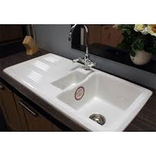 White Ceramic Kitchen Sink 1 5 Bowl White Ceramic Kitchen Sink Sink Ideas