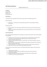 medical laboratory technician resume sample fantastic lab