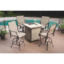 Tahoe 5 Piece Patio Dining Set - outdoor expressions northcliffe 5 piece fire pit chat set