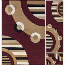Area Rugs With Circles Ottomanson Paterson Collection Contemporary Circles Design Dark