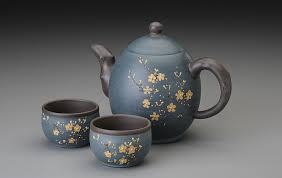 teapot set curled 23 oz yixing teapot