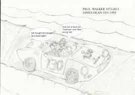 paul walker rides with james dean by barneyjones123 on deviantart