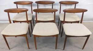 set of six teak 1960 s retro dining chairs sold