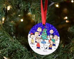 snoopy ornament etsy