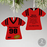 personalized basketball jersey ornaments