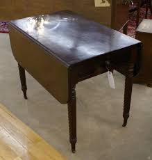 Vintage Drop Leaf Table Very Nice Solid Mahogany Drop Leaf Table With One Drawer For Sale