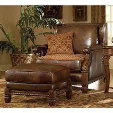 Wood And Leather Chair With Ottoman Design Ideas Leather Chair And Ottoman Sets Editeestrela Design