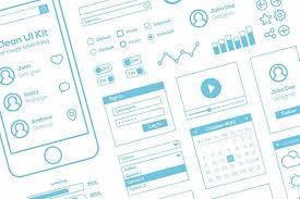 flat mobile web ui kit for sketch web elements creative market