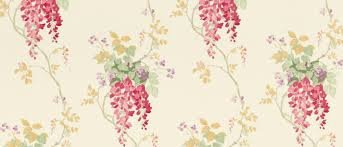 wisteria cranberry floral wallpaper at laura ashley